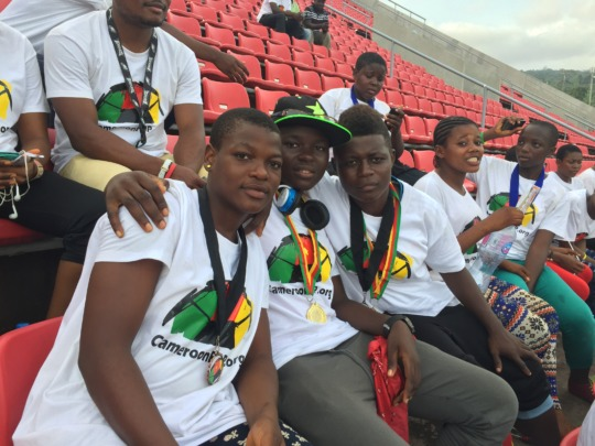 Our girls watching the Africa Women Cup of Nations