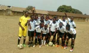 Players from St. Peters FC in Kumba ready to play!