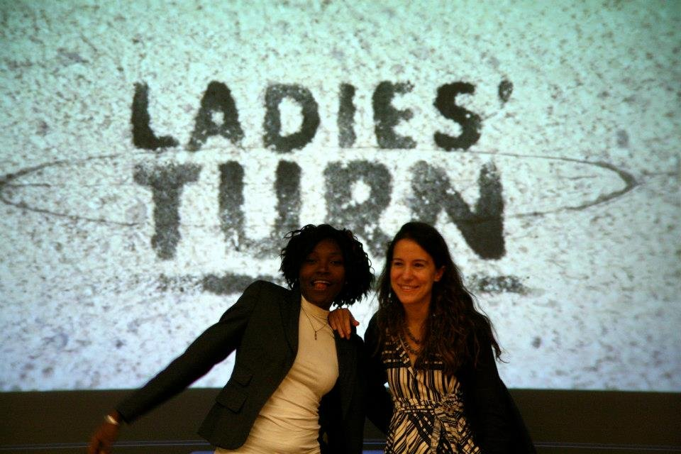 Gaelle Yomi and Jennifer Browning present the film