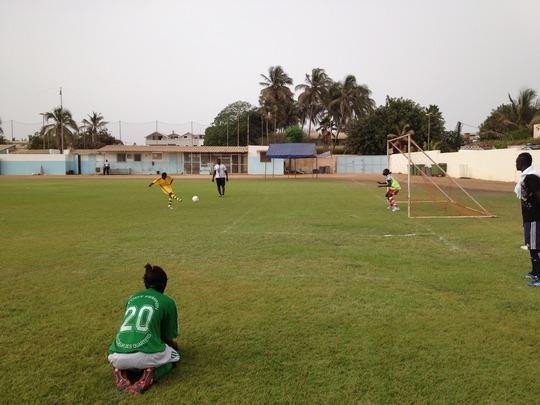 Medina Marmyal shoots the winning penalty kick!