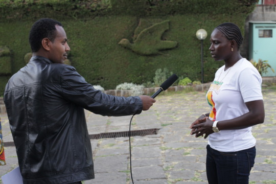 Seyni speaks to Ethiopian TV about Ladies' Turn.
