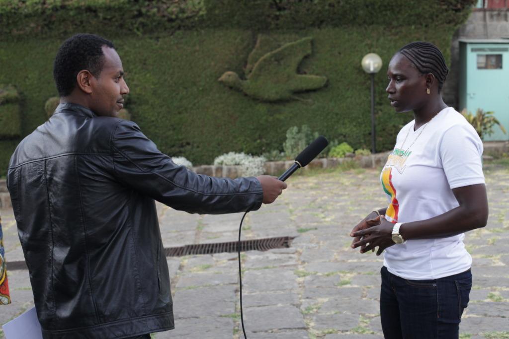 Seyni speaks to Ethiopian TV about Ladies