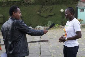 Seyni speaks to Ethiopian TV about Ladies' Turn.