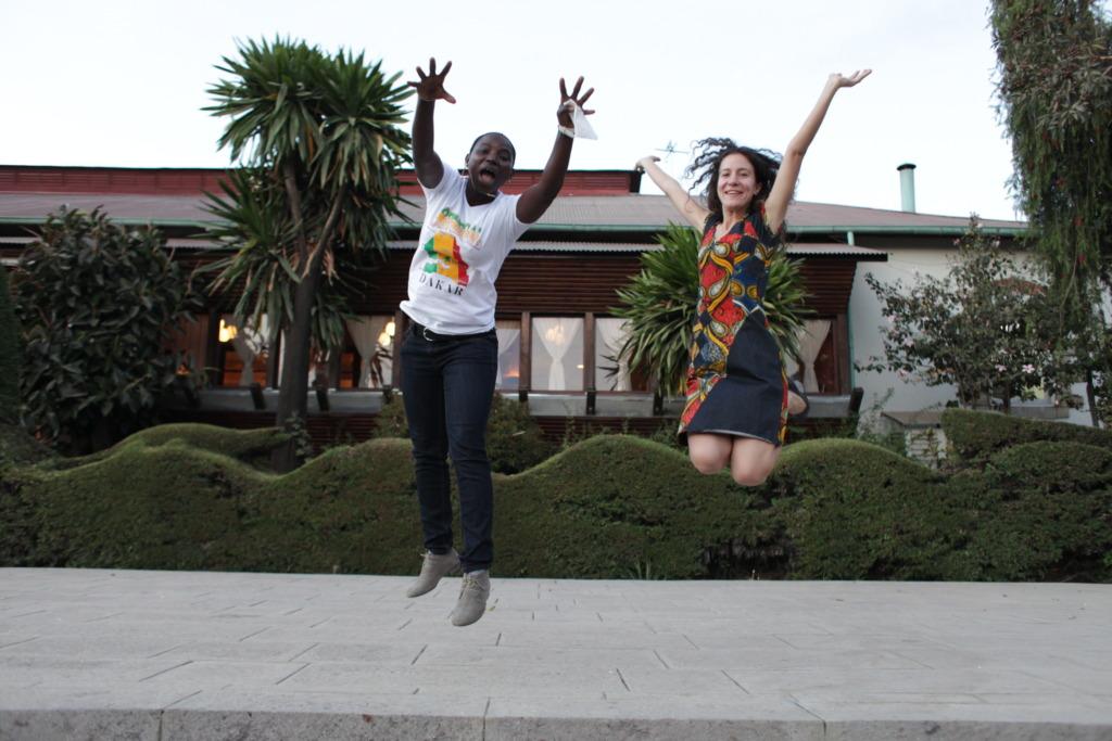 Seyni & Jennifer celebrate a successful screening!