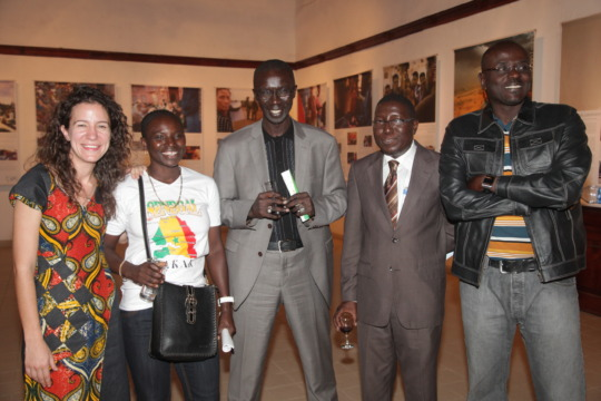 Jennifer, Seyni, & the Senegal Embassy Delegation.
