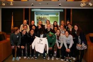 Gaelle, Jennifer, & Princeton Women's Soccer Team!