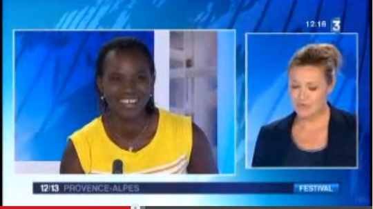Seyni and Helene on Channel 3 in France !