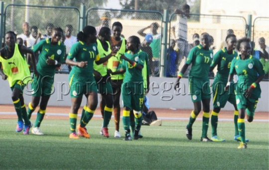 Senegal National Women's Team prepares to play.