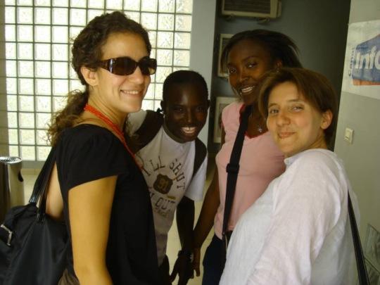 Throwback to 2009- Jen, Seyni, Gaelle, Helene