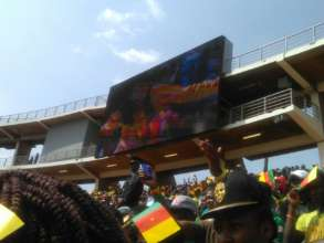 Crowd cheers women players at Africa Cup Final