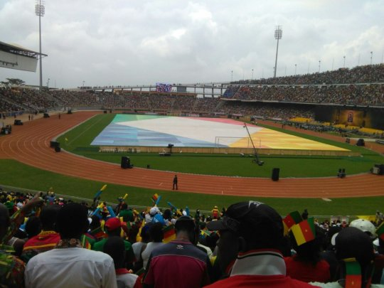 Gaelle live at the Africa Cup of Nations Final