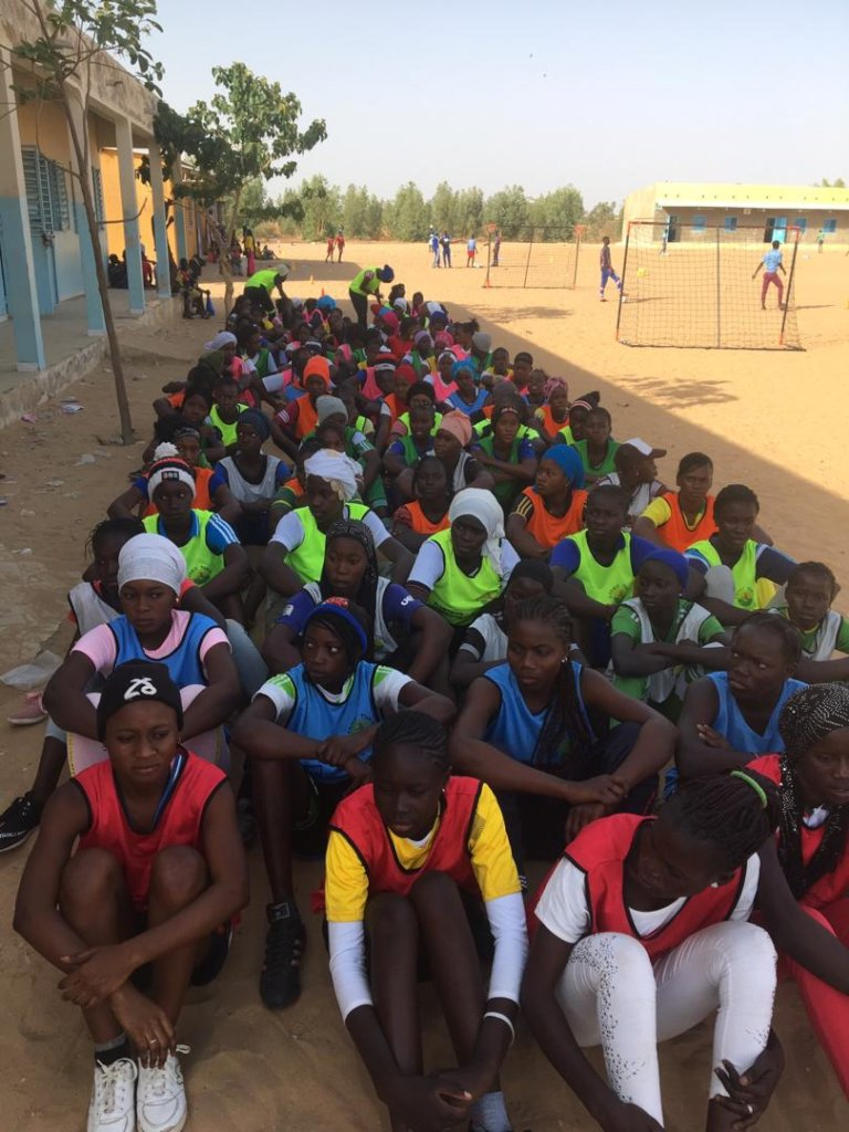 Girl participants at the Notto Dioubass Clinic