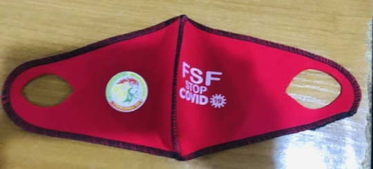 Seyni's mask w/ Senegalese Federation for Football