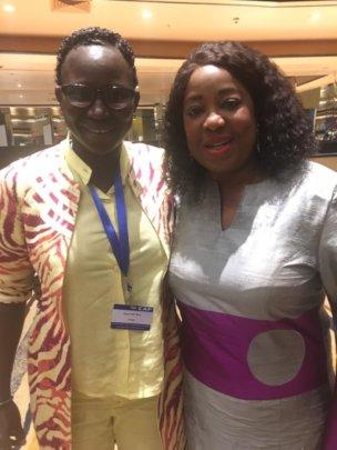 Seyni with FIFA Secretary General Fatma Samoura
