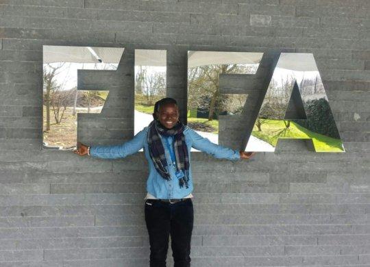 Seyni represents Ladies' Turn at FIFA HQ.