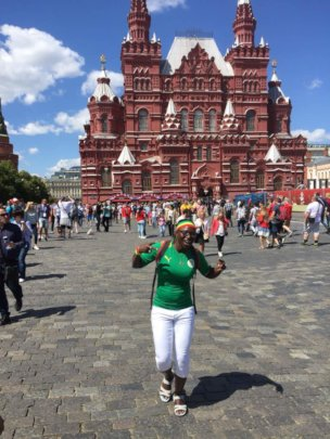 Seyni at the World Cup Football Park - Red Square
