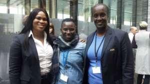 Seyni with Rwandan and Burundian Soccer Leaders.