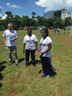 Coach Carina, coach, Premier League Skills rep