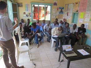 Global Giving rep Kelly gives workshop at MYRC