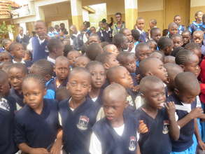 Students at MM Shah Primary gather for 2Jinyce
