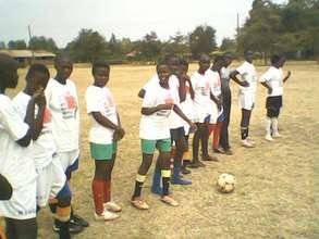 Manyatta United Ladies at Kisumu Practice Field