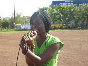 Nahna in rehearsal - Best Female Artist at Vybez