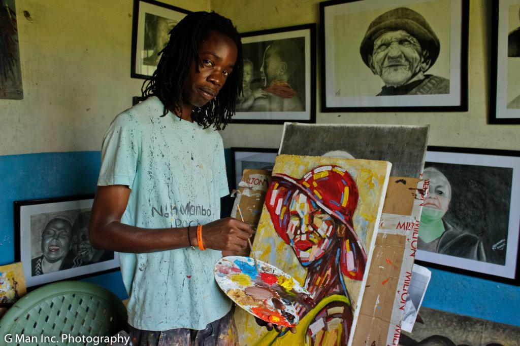 Nikomambo at his studio