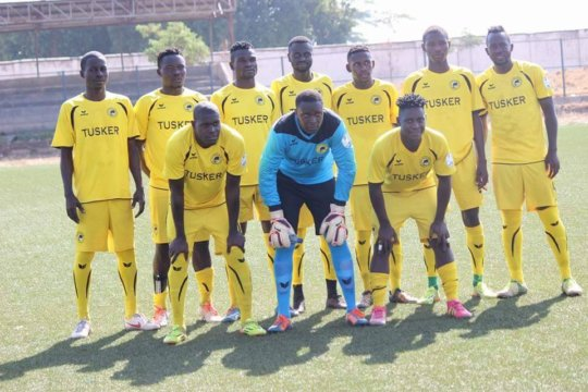 Sidney, 2nd from right back, now on Tusker Premier