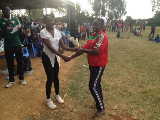 Sophy awarded best goal keeper at Oygis tourny