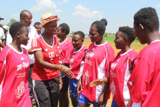 Women players at BYSA, photo by Absalim O