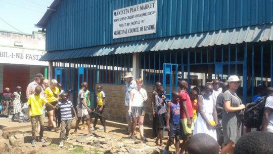 Danish visitors tour Kisumu with MYRC youth