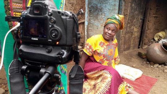 Filming in Manyatta