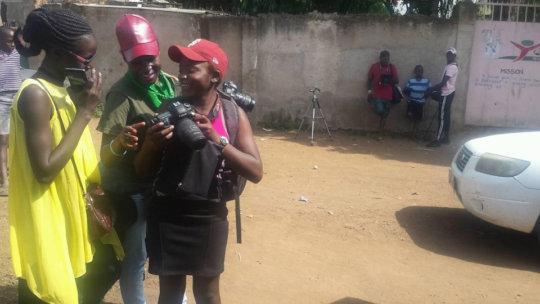 Filming mini-series Anita engages lots of talent
