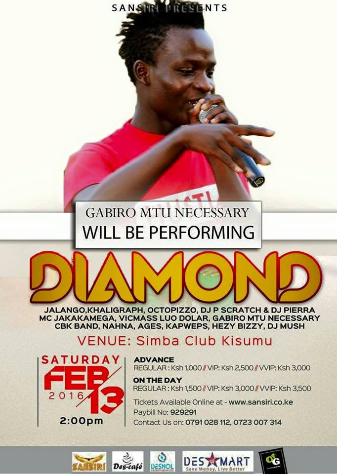 Gabiro will appear with Diamond