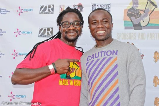 Starbell producer Malique with founder Simon