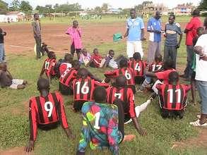Manyatta United U-18 team & coaches