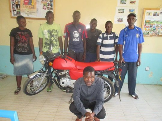 The new motorbike provides income and transport