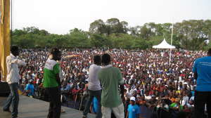Performing in Kisumu