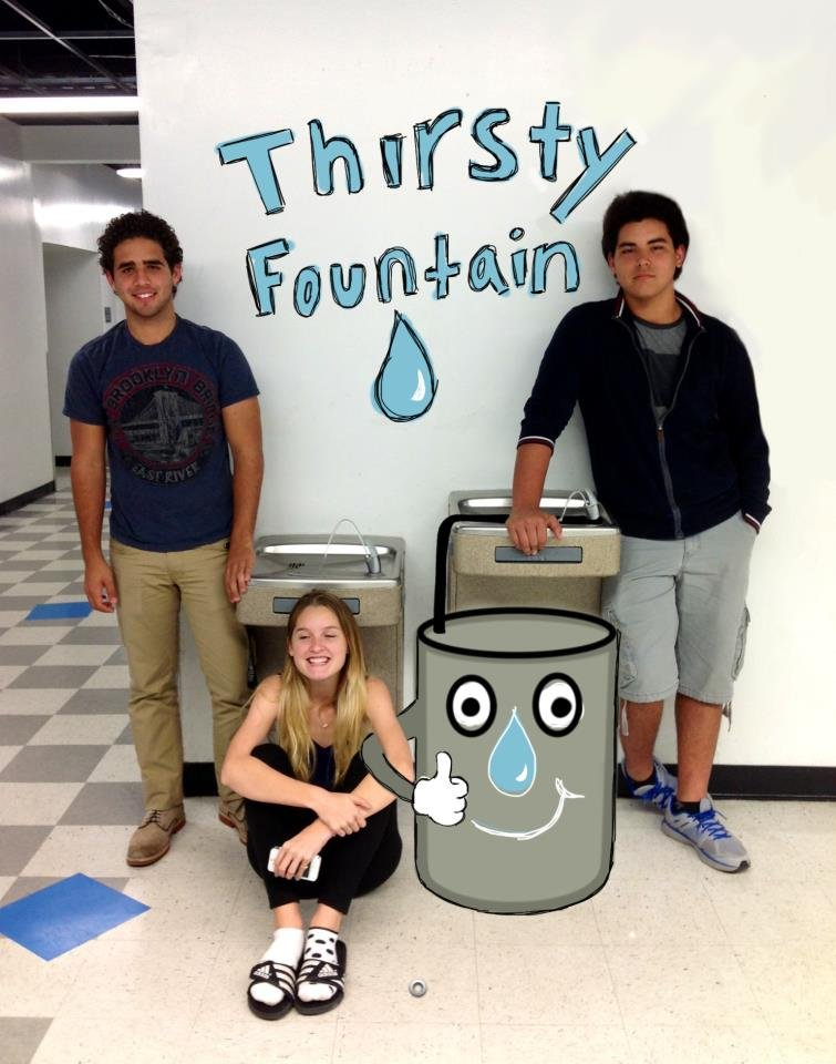 Team Thirsty Fountain. Grand Prize winners.