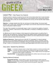 Guerrilla Green Lesson Plan (PDF)