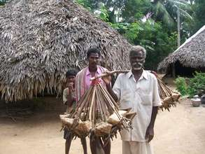 A tribal person migrating in search of livelihood