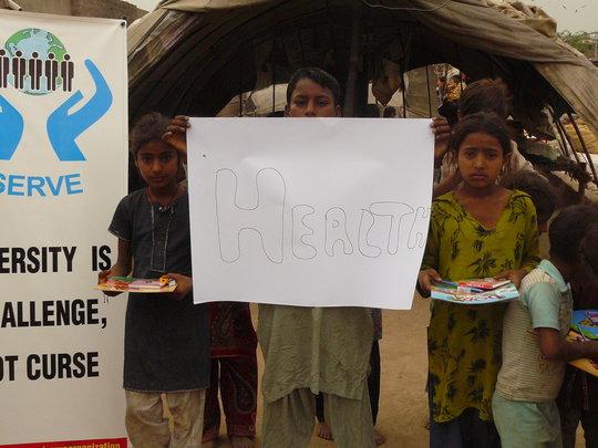 Warm Clothing to children in Slums