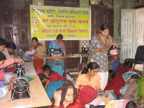 Cutting Tailoring course for needy women