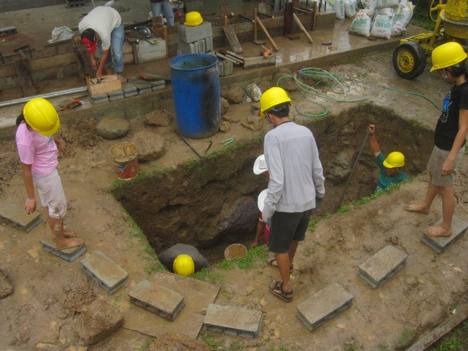 Agriculture Volunteers Finish Septic Tank