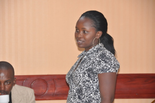 A participant giving valid input at the Dialogue
