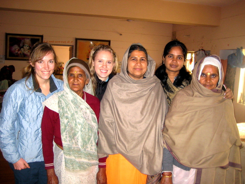 Our interns Annie and Shantel in Vrindavan