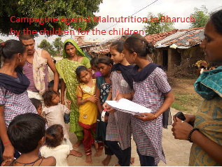 Campaign against malnutrition by the children
