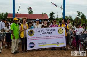Lions Club of Singapore bicycle donation to BFT