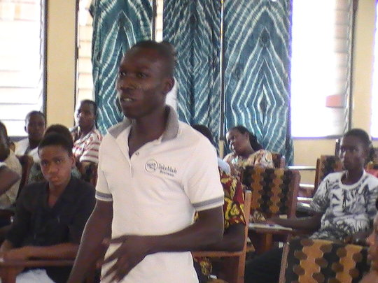 Male youth at Sogakope advocacy workshop