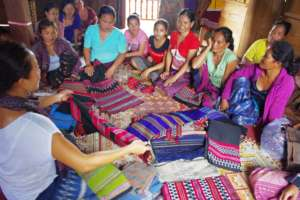Khoun visits Katu artisans in the south of Laos